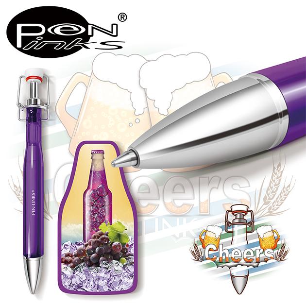 PEN-LINKS 乾杯Cheers 啤酒原子筆(含便條紙一組) 3
