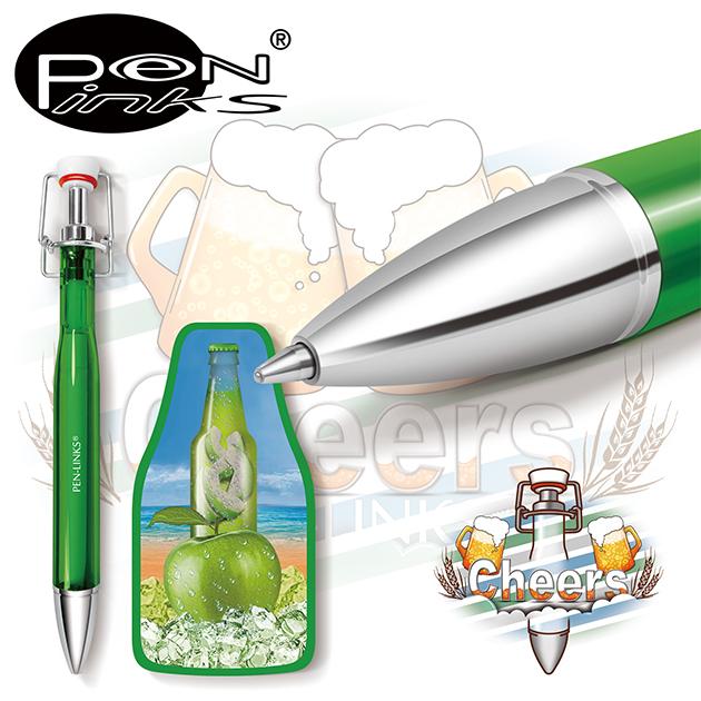 PEN-LINKS 乾杯Cheers 啤酒原子筆(含便條紙一組) 4