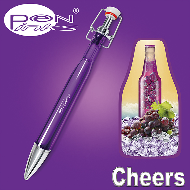 PEN-LINKS 乾杯Cheers 啤酒原子筆(含便條紙一組) 10