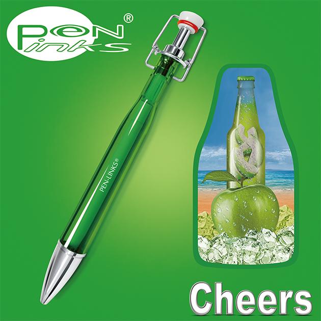 PEN-LINKS 乾杯Cheers 啤酒原子筆(含便條紙一組) 15